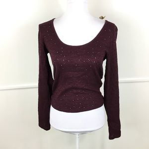NEW American Eagle Outfitters Eyelet Crop Top M